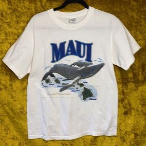 Anvil Maui Preshrunk Cotton Whale Island Shirt M